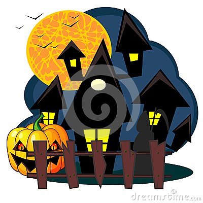 Scary house of Halloween