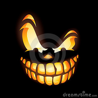 Scary Jack O Lantern Stock Photos Image 15822923