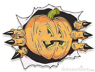 Scary Jack O  Lantern Cartoon