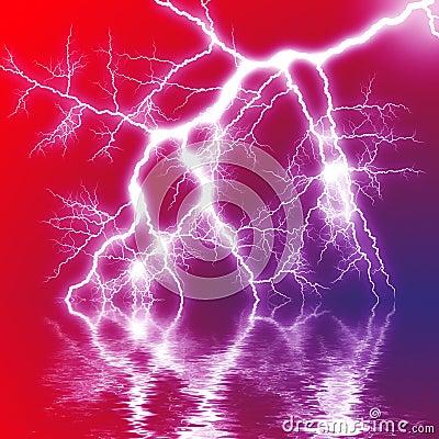 Scary Lightning Stock Photo Image 10487890