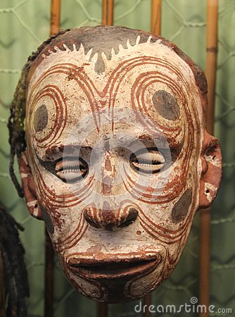 Free Scary Mask With Shells From Papua New Guinea, Australia Royalty Free Stock Image - 37521086