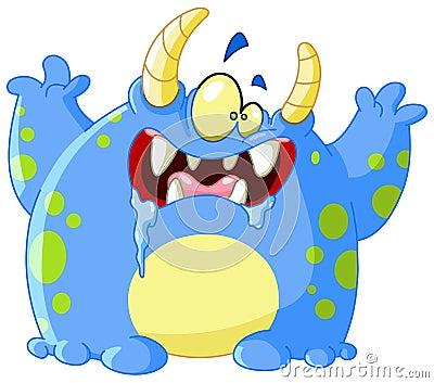 Scary monster Vector Illustration