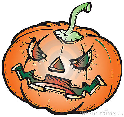 Scary pumpkin illustration
