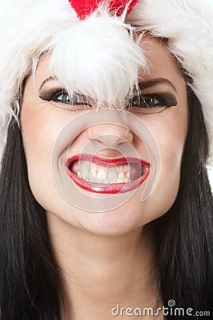 Scary santa girl
