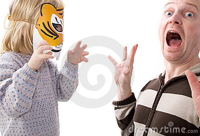 Scary shock surprise tiger mask