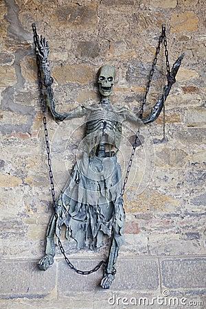 Scary skeleton.
