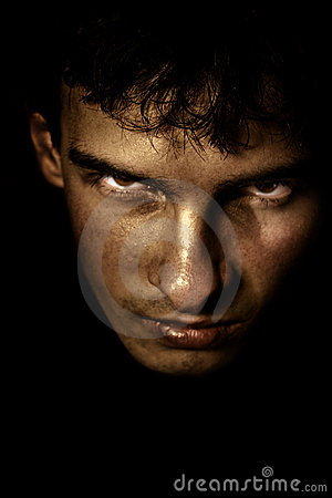 Free Scary Spooky Face In The Shadow Stock Photo - 6757690