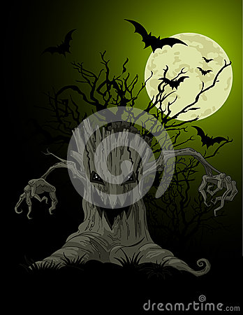 Scary tree background