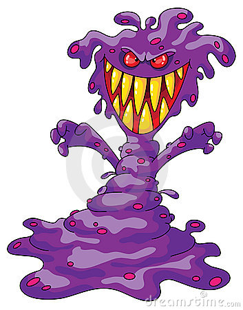 Scary violet monster
