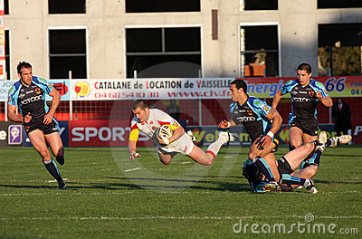 SCatalans Dragons vs Bradford Bulls Editorial Photography