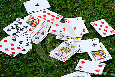 Scattered Deck of Cards