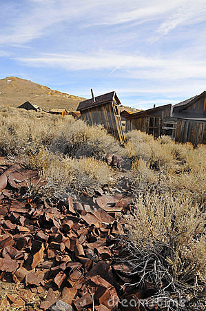 Scattered Old Cans in Ghost Town