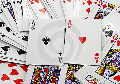 Scattered Cards Background