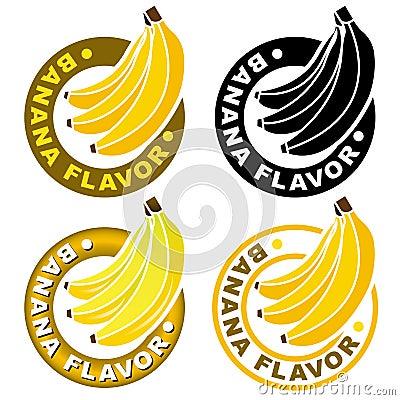 Sceau/repère de saveur de banane