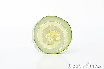Singola fetta del cetriolo