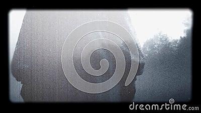 Scena astratta di film horror video d archivio
