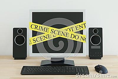 Scena del crimine del Internet