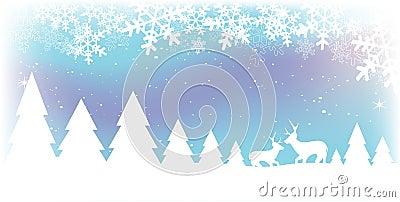 Scena della neve di natale