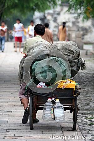 Scena della via in Cina