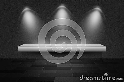 Scena o fondo nera di struttura