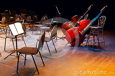 Scene of a concert hall