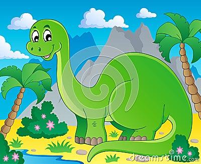 Scene with dinosaur 1