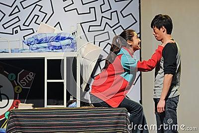 Scene of a drama Editorial Photo