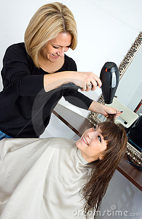 Scene in hair salon