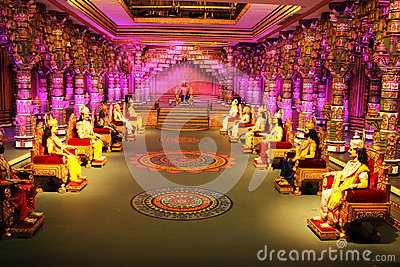 Scene from Indian Epic Mahabharath in Ramoji Film City Editorial Stock Image