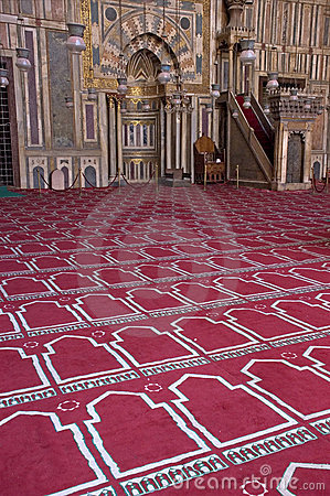 Scene inside a Mosque, Islam, islamic Religion