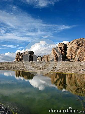 Scene on Namsto lake, Tibet