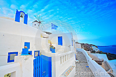 Scene from Oia village