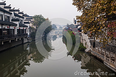 Scene of Qinhui river in Nanjing