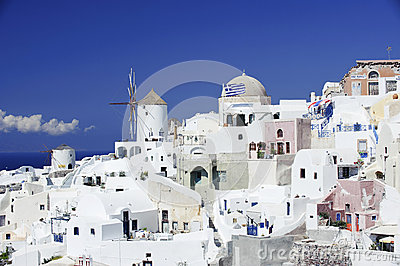 Scene in Santorini island, Greece