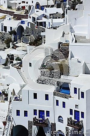 Scene in Santorini island, Greece