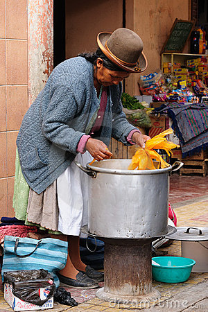 Scene from the street in Bolivian city Editorial Photo
