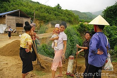 Scene in the Thai countryside Editorial Photography