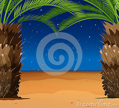Free Scene With Palm Trees On The Beach Stock Image - 72332521