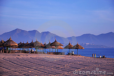 Scenery on beach