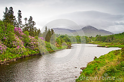 Scenery of Connemara mountains