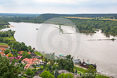 Scenery of Kazimierz Dolny at Vistula river