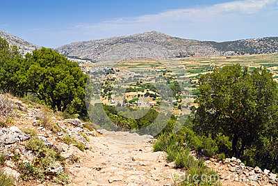 Scenery of Lasithi plateau on Crete