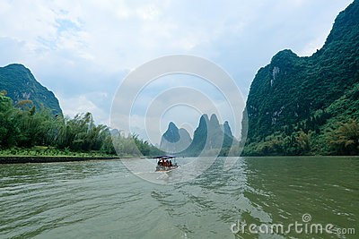 Scenery of li river in Guilin