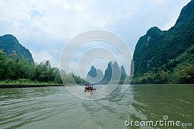 Scenery of li river in Guilin