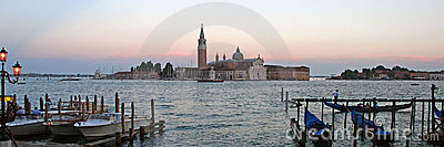 A scenery panorama of  Venice Italy