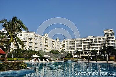Scenery in the resort hotel