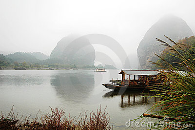 Scenery of river and boats