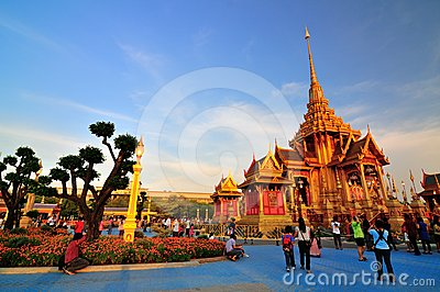 Scenery of Royal funeral architecture Editorial Stock Photo