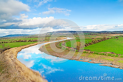 Scenery of Shannon river