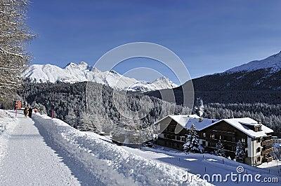 Scenery in St. Moritz